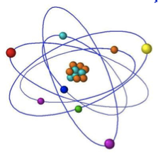 Diagram of an atom.